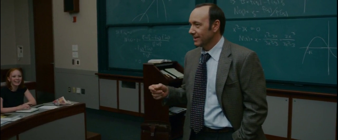 "Kevin spacey nel ruolo di professore in ""21 BlackJack"""